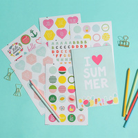 Dokibook Summer Series Creative Stickers Cute Kawaii Sticker Notebook Planner Album DIY Decorative Gift Stationery Sticker