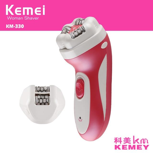 Kemei 2 в 1 Пинцет две Головы Дизайн тело бикини Эпилятор Аккумуляторная Удаления Волос Женский Эпилятор Инструменты KM-330