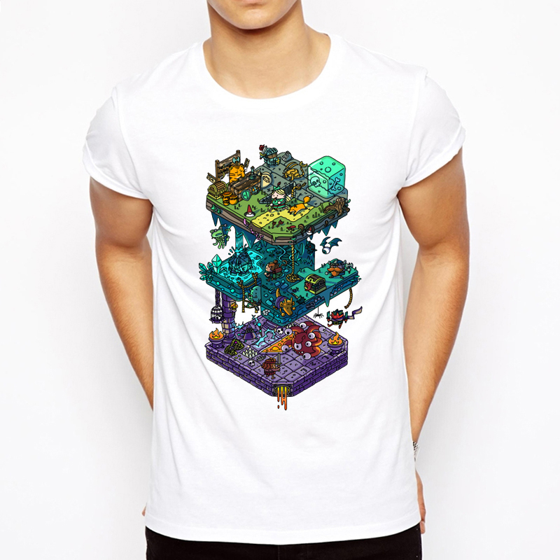 Dungeons And Dragons Design New Man Casual Short Sleeve Fashion Summer Printing Casual O-neck Men T-shirt