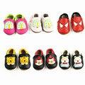 Zapatos de Bebé de Dibujos Animados Cuero genuino colores Mezclados Animales Niño Bebé mocasines Zapatos inferiores Suaves Primeros Caminante Bebe