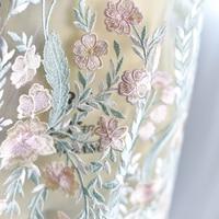 Cortile Fresco colorful fine ricamo tessuto di pizzo per abito da sposa abito da sposa haute couture prom abito da fare