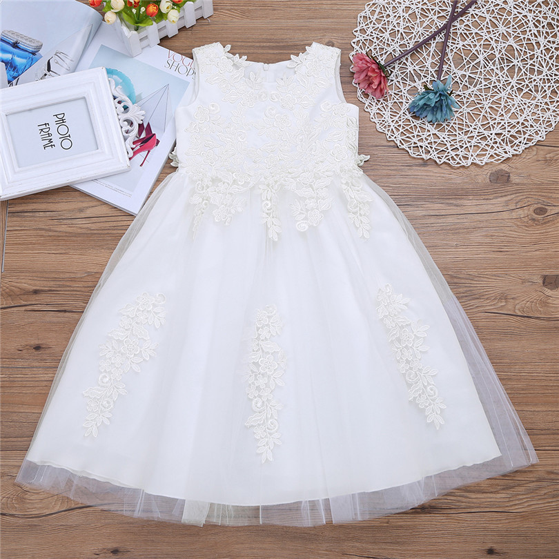 4f118f3280aa iEFiEL Sleeveless Flower Girls Dress Elegant Vestidos De Festa Princess Christmas  Dress Ball Gown Baby Girl Lace Tutu Kids Dress-in Dresses from Mother ...