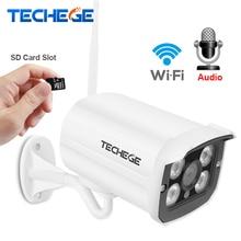 Techege MINI 1280*720 P Cámara del IP del WIFI de Audio Impermeable HD Red wifi 1.0MP cámara de visión nignt inalámbrico Al Aire Libre cámara Yoosee