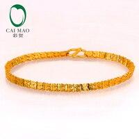 CAIMAO 24 к чистый 999 золотой браслет из натуральной бутик Изысканные подарок на помолвку или на свадьбу Модная классика Вечерние