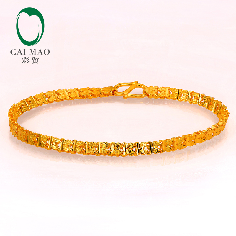 CAIMAO 24K Pure 999 Gold Bracelet Genuine Boutique Fine Wedding Engagement Gift Trendy Classic Party