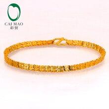 d5385a971 CAIMAO 24 K Puro 999 Pulseira De Ouro Genuíno Fina Boutique Presente de  Noivado Casamento Moda Festa Clássico