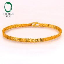 CAIMAO 24K Pure 999 Gold Bracelet Genuine Boutique Fine Wedding Engagement Gift Trendy Classic Party
