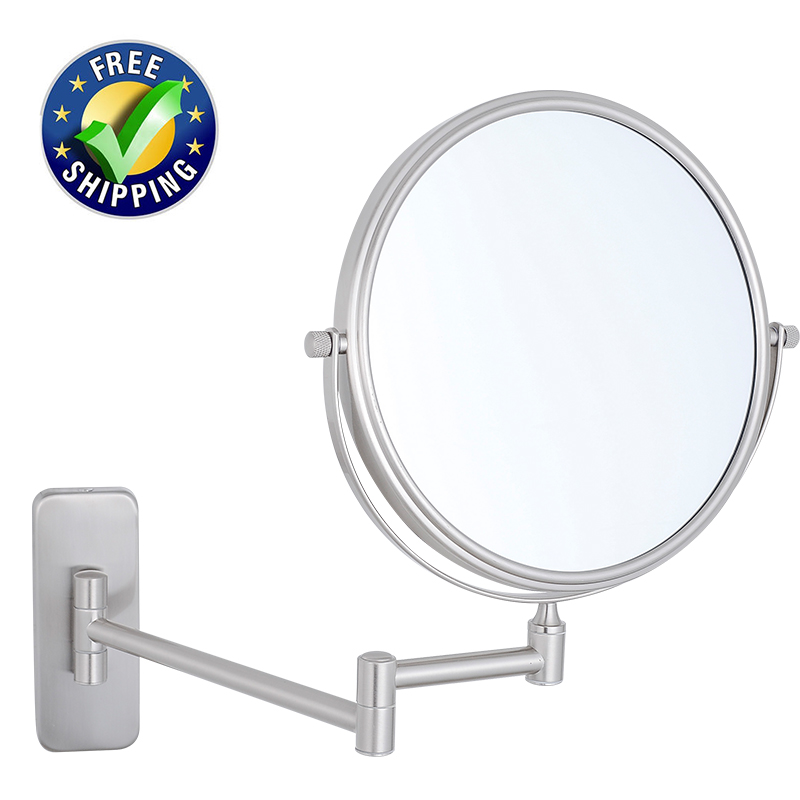 Gurun Makeup Mirror Magnifying 10x 7x 5x 3x Wall Mount Bathroom Swivel Shaving Mirrors Rotated Extendable
