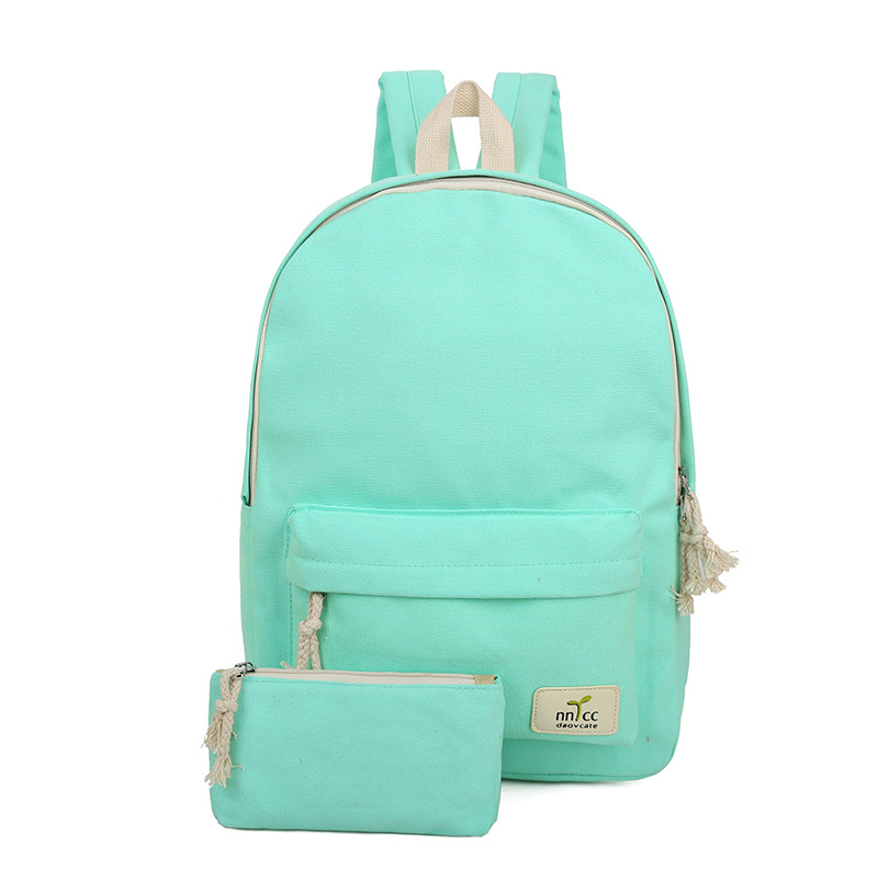 2017 new backpack of mother of one a sum of lovely pure color bags women backpack