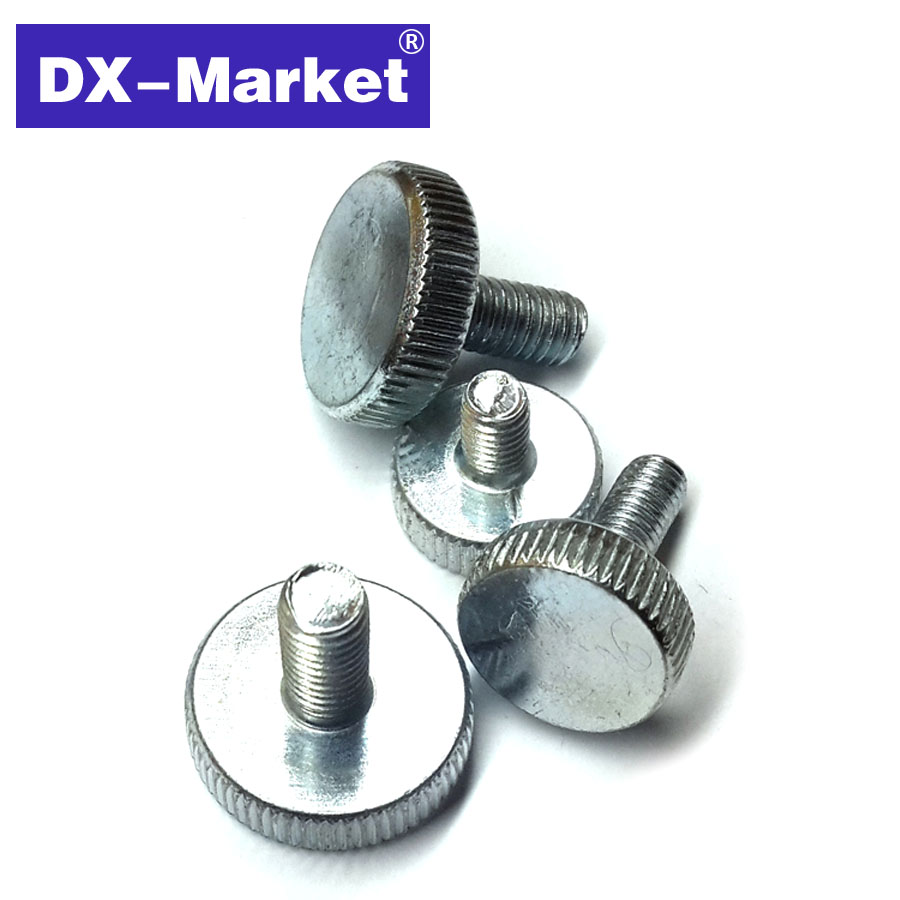 m5 Knurled bolt , 8mm-40mm , hand tighten m5 thumb screw , knurled knob screw Manufacturer skull head style mask silver black