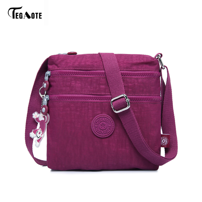 TEGAOTE Luxury Women Messenger Bag Nylon Shoulder Bag Ladies Bolsa Feminina Waterproof Travel Bag Women's Crossbody Bag