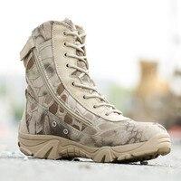 2017 Mężczyźni Camouflage Buty Python Sił Specjalnych Pustynne Buty Armii Buty Trekkingowe Buty Bezpieczeństwa Na służbie