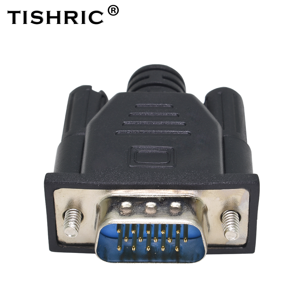 TISHRIC HDMI VGA 15Pin Dummy Plug Headless Virtual Ghost Display Emulator Monitor Adapter 1920x1080 60Hz For DDC EDID Video Card