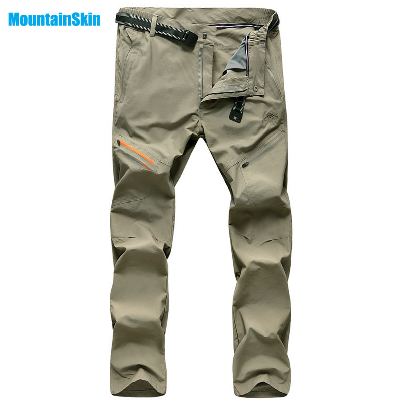 Mountainskin Men's Summer Quick Dry Breathable Pants Outdoor Sports Clothing Fishing Hiking Camping Trekking Male Trousers MA012