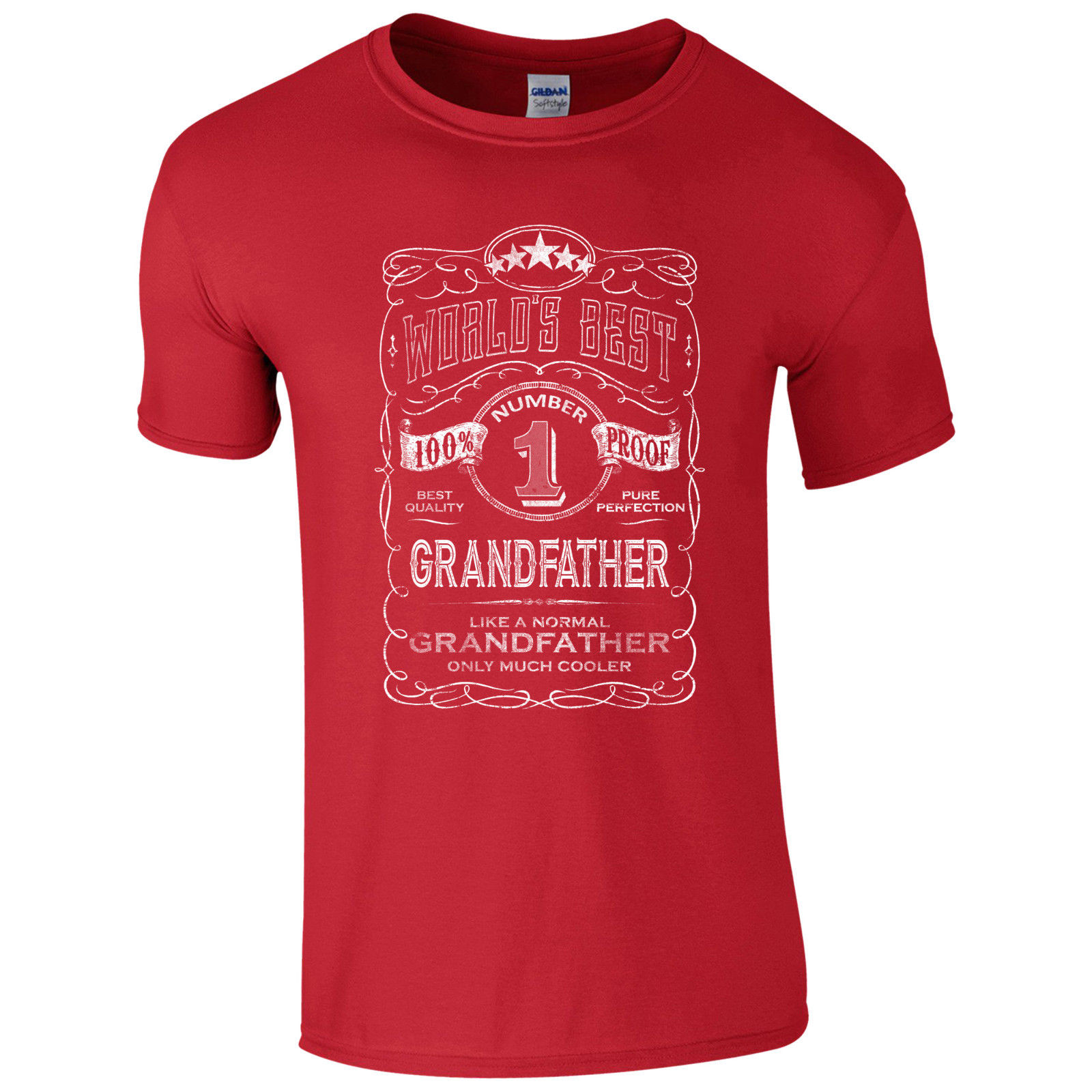 Funny Gift Granddad Fathers Day Present Top World/'s Best Grandfather T-Shirt