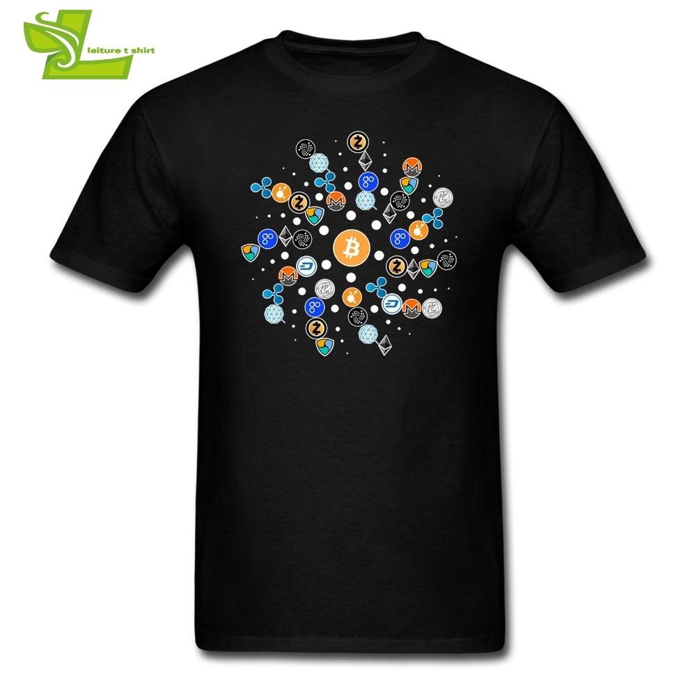 T Camisas cryptocurrency camiseta ethereum bitcoin litecoin Blockchain BTC ETH LTC xmr qtum Camisetas Tees manga corta pop hombres manga corta