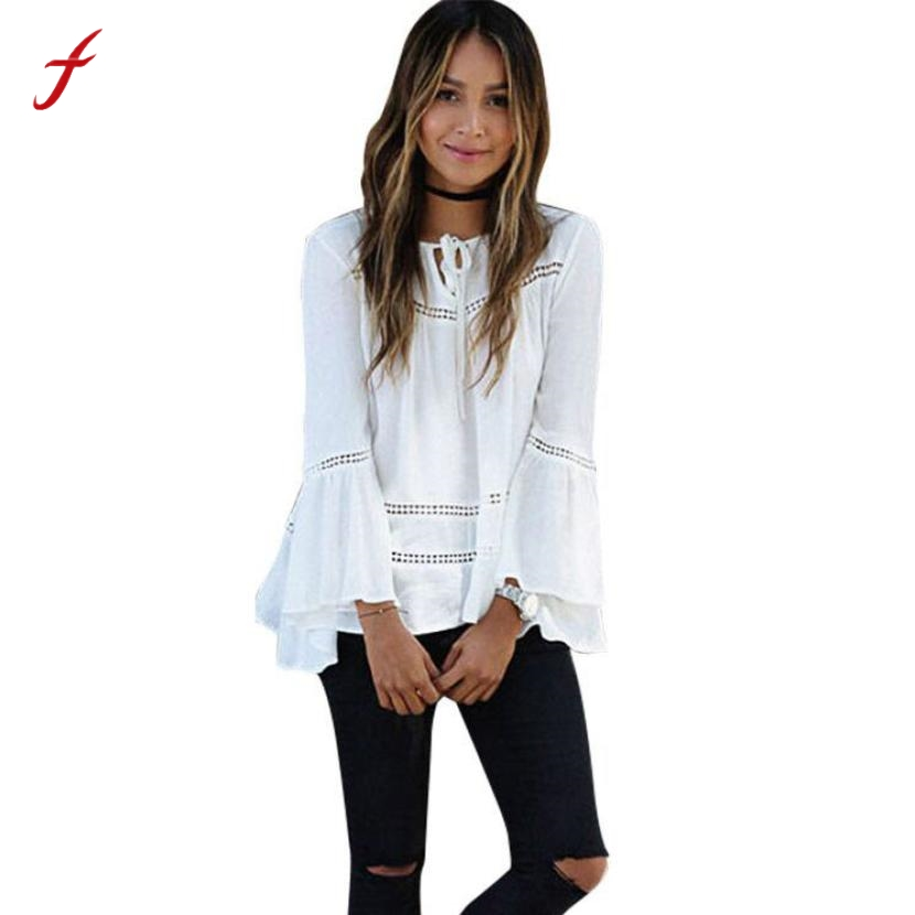 Women Blouses Loose Flare Sleeve Casual Blouse Shirt Women Ladies Tops Women Clothes Blusas Y Camisas Mujer Chemisier Femme