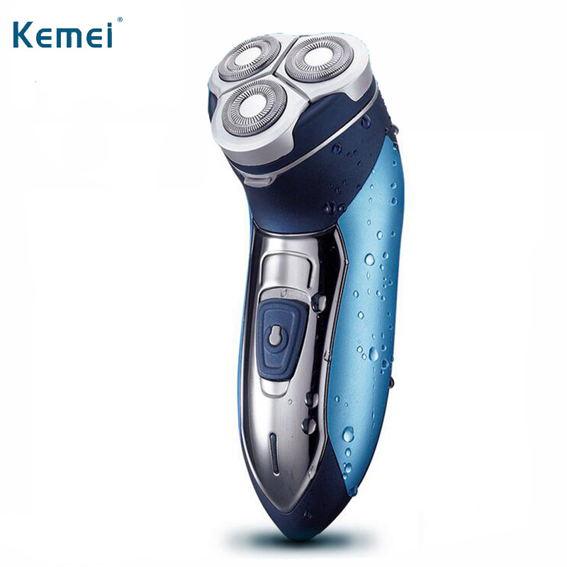 Kemei Electric Shaver Washable Razor For Men Blade Rechargeable Razor Shaving Face Beard Care 3D Floating Hair Trimmer KM-7390