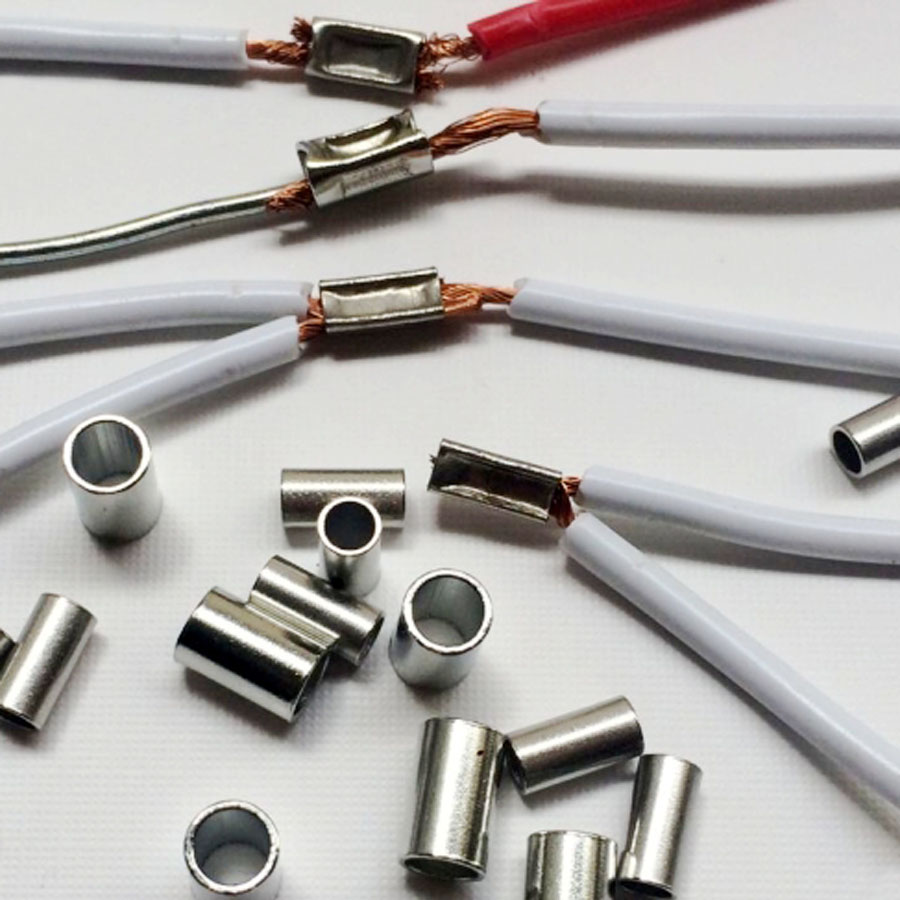 us $8 54 5% off 100pcs round car wiring harness connector terminal copper tubular terminals for 0 5 1mm2 cable etc in terminals from home improvement Wire Harness Terminals