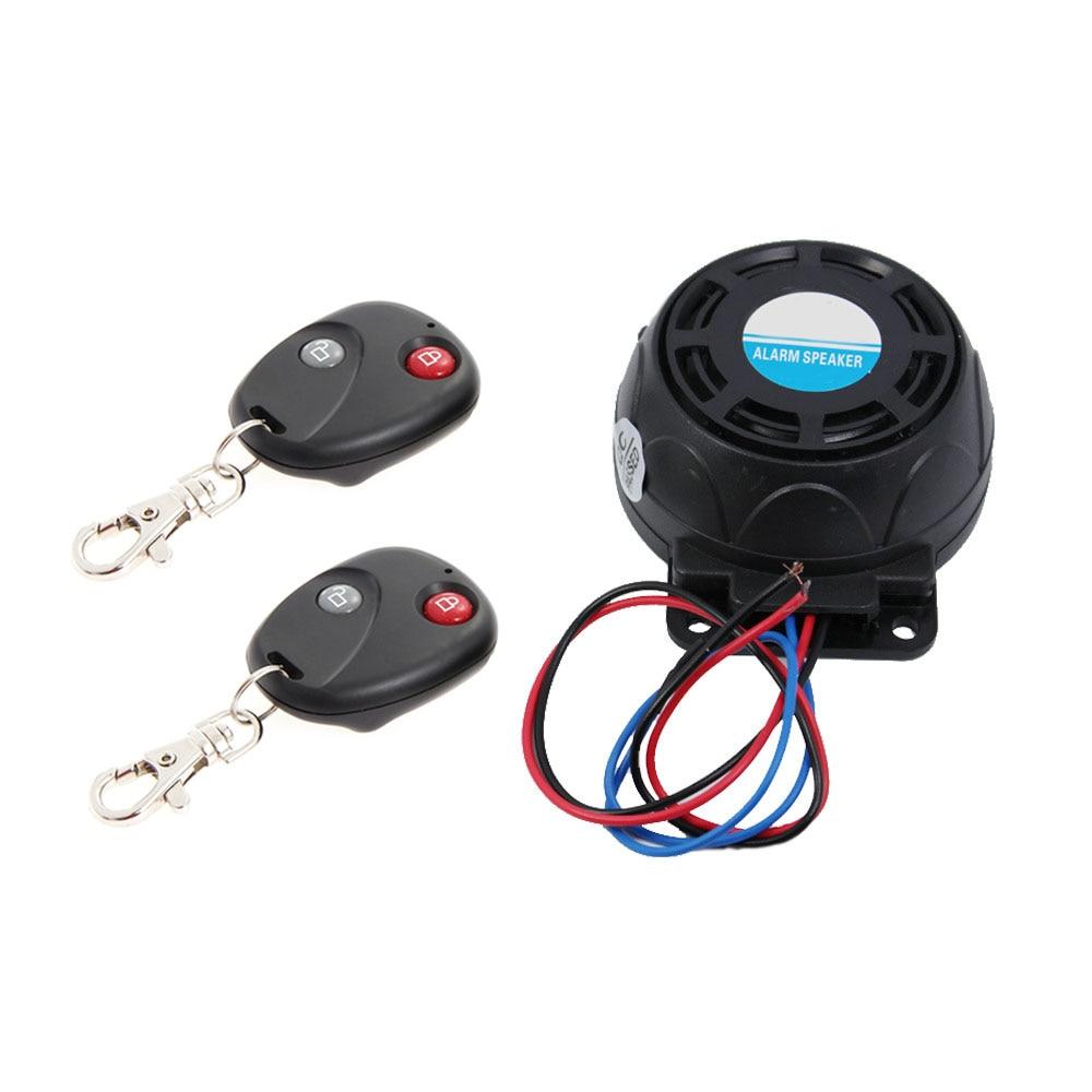 2 Remote Controls Anti-theft Security System Motorcycle Alarm Vibration Lock Burglar Alarm Dual Remote Control Sensor