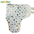 Bebê Swaddle Envoltório Envelope para Recém-nascidos 100% Algodão Saco de Dormir Para 0-3 Meses Do Bebê Para O Verão Cobertor Panos 50X73X39 cm