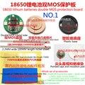 18650 Bateria De Lítio Cilíndrico Geral Dupla Placa Mos 4.2 V18650 Placa de Proteção Com Chapa de Aço Na Parte de Trás