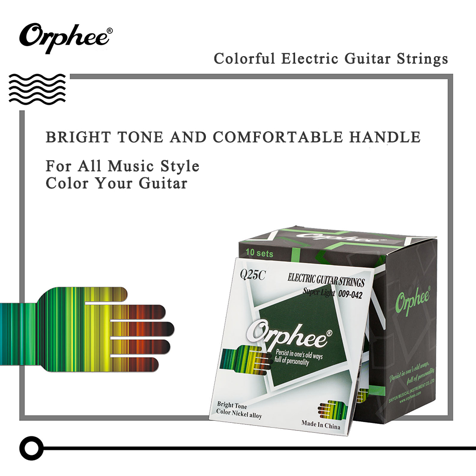 Orphee Colorful Electric Guitar Strings Set Color Nickel Alloy Super Diagram Light 009 042 Guitarra 1st 6th In Parts Accessories From