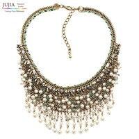 NEW Z Design HOT SALE Trendy Fashion Pearl Bib Collar Pendant Necklace Pendant Nickel Free