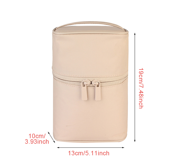 Washable Barrel Shaped Makeup Organizer with Zipper for Women Suitable for Travel and Home Use 7