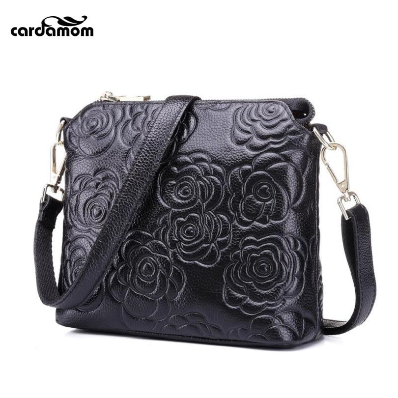 ФОТО Cardamom Genuine Leather Shoulder Bag Women Messenger Bags Clutch Girls Casual Bag Brand 2017 New Products Fashion Handbags