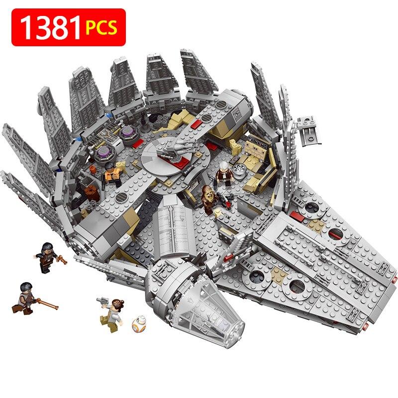 Étoiles Millennium Falcon Chiffres Guerres Modèle Blocs de Construction Inoffensif Briques Éclairer Compatible LegoINGLYS StarWars Jouet