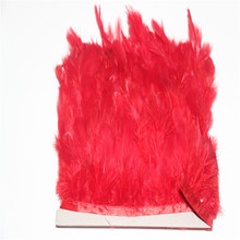 hot deal buy dyed red hair chicken back one meter (about 8-12cm length) tape clothing accessories, decorative feather accessories