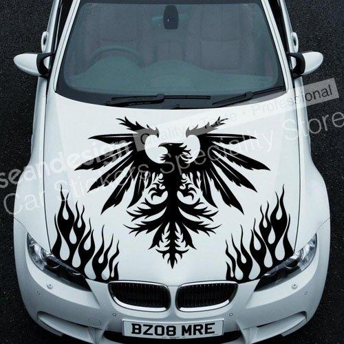 Крута! Totem Eagle D 023 Аўтамабільны Наклейка для аўтамабіляў з ПВХ (чорны, белы, чырвоны, шэры колер)