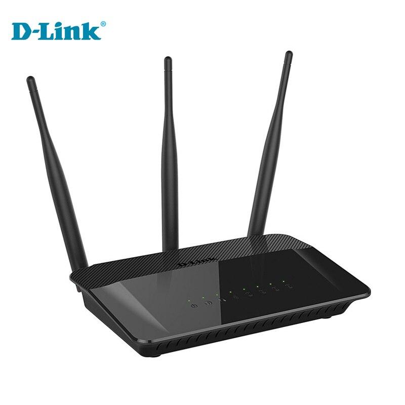 Prix pour Flash Vente D-Lien DIR-809 Anglais firmware dlink 2.4G/5 GHZ 750Mbs trois antenne ROUTEUR accueil plug Internet pour les jeunes sans fil routeur
