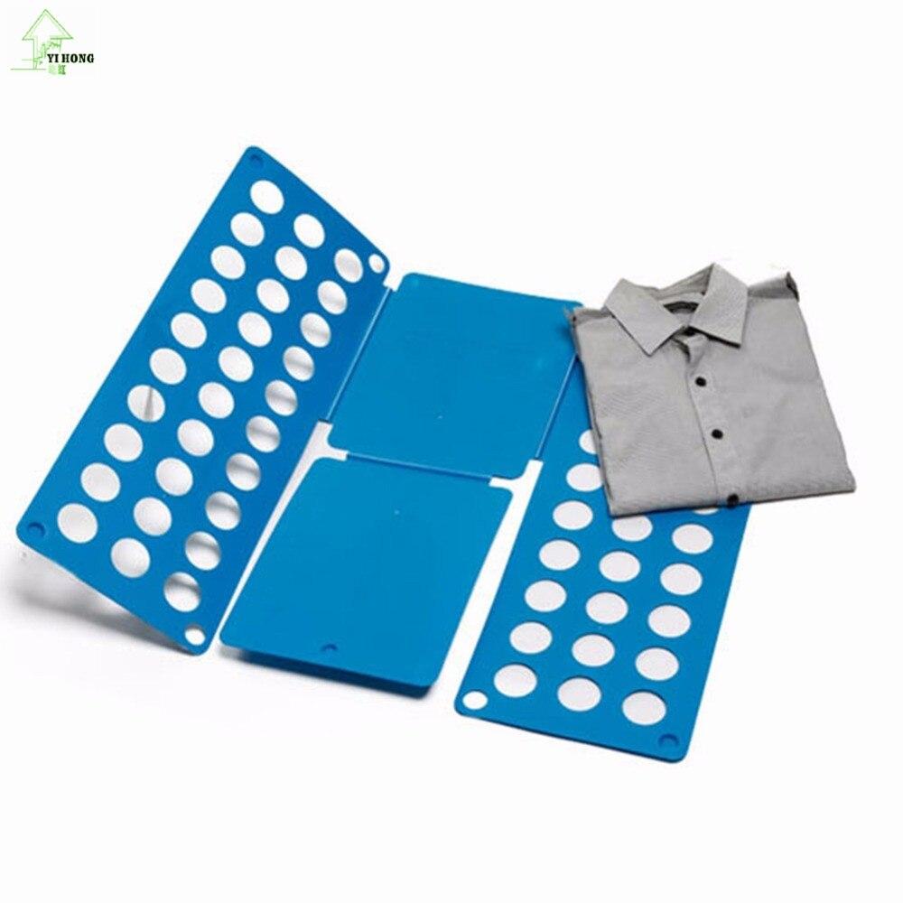 YI HONG Clothes Folder board clothing laundry folding board storage Magic Clothes Folder Flip T Shirts Fold Best Gift