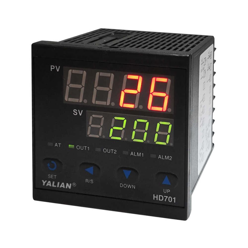 Livraison gratuite régulateur de température numérique double ligne affichage Thermocouple inpute relais sortie nouveau style thermorégulateur 2018