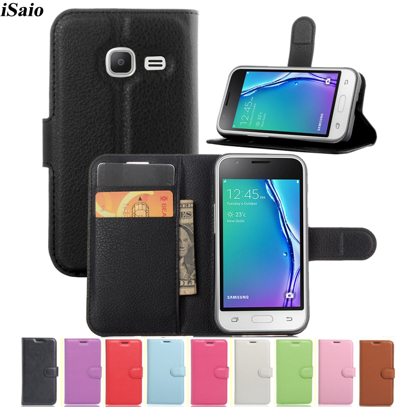 Wallet Case Leather Cover For <font><b>Samsung</b></font> <font><b>Galaxy</b></font> <font><b>J1</b></font> <font><b>Mini</b></font> 2016 J105 <font><b>J105H</b></font> J105F J105b <font><b>SM</b></font>-<font><b>J105H</b></font> J1Mini Cover Flip Protective Phone Bag image
