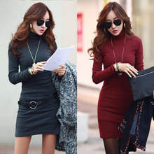 2016 women spring vestidos roupas feminina tunic clothed female mini robe solid tropical tweed ropa mujer sweater dress