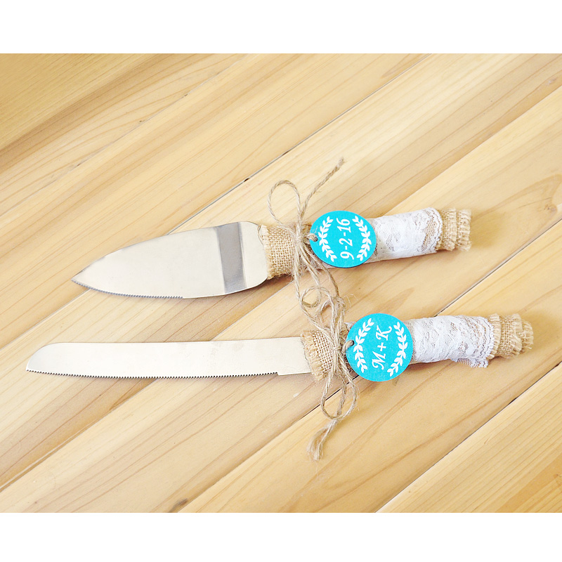 Personalized Wedding Cake Knife & Server Set , Rustic wedding ...