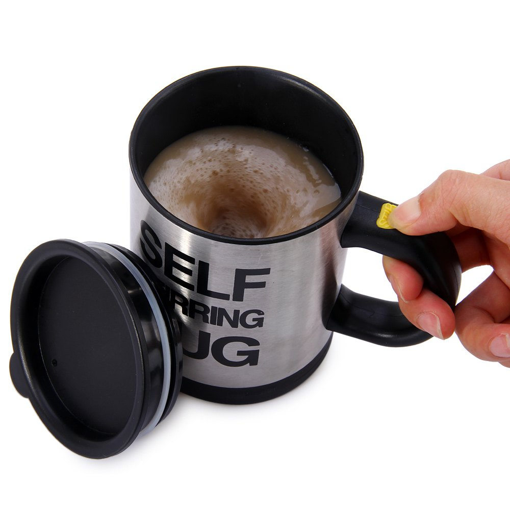 automatic self stirring coffee mug drinkware tasterich. Black Bedroom Furniture Sets. Home Design Ideas