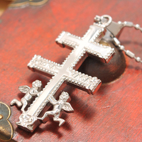 2016 Fashion Jewelry Lover S Gifts 316L Stainless Steel Necklace Angel Cross For Love Men Necklace