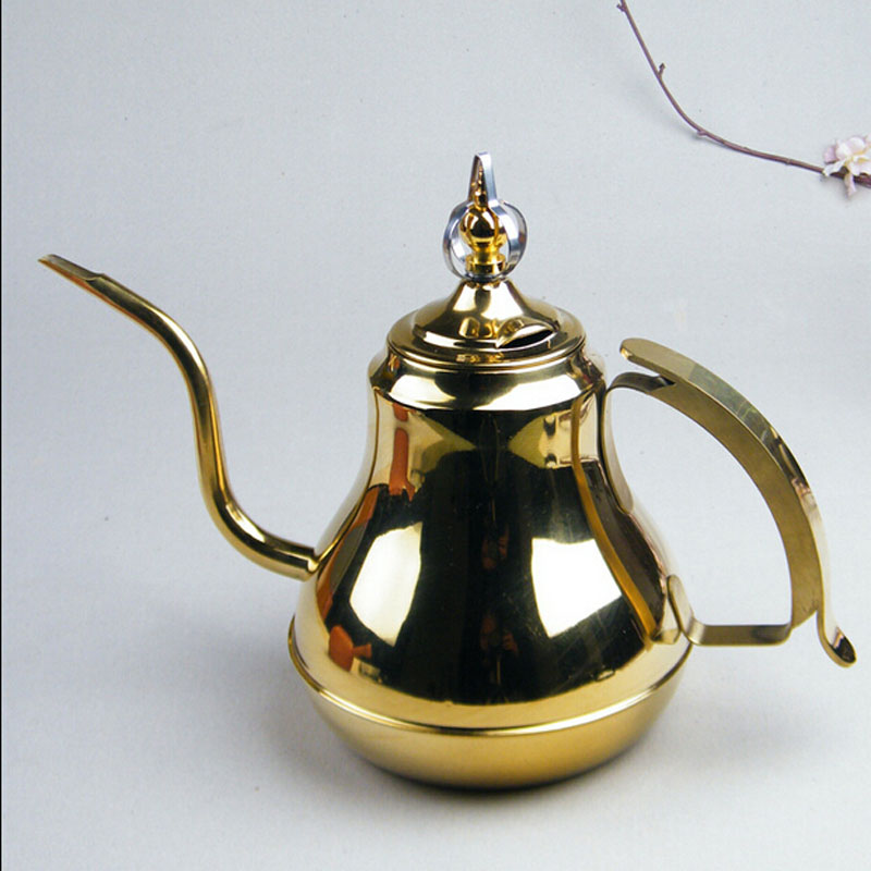 1 5L Induction Use 304 Stainless Steel Tea Kettle Creative Kicthen Tools Long Mouth Water Kettle