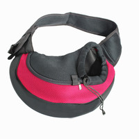 Breathable Cat Carrier Solid Color Small Pet Dog Carrier Mesh Puppy Sling Bag Carrying Bags for Dogs Single Shoulder Bag S/L