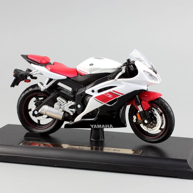 brand 1 18 scale children yamaha yzf r6 motorcycle super sport race metal diecast bike car model. Black Bedroom Furniture Sets. Home Design Ideas