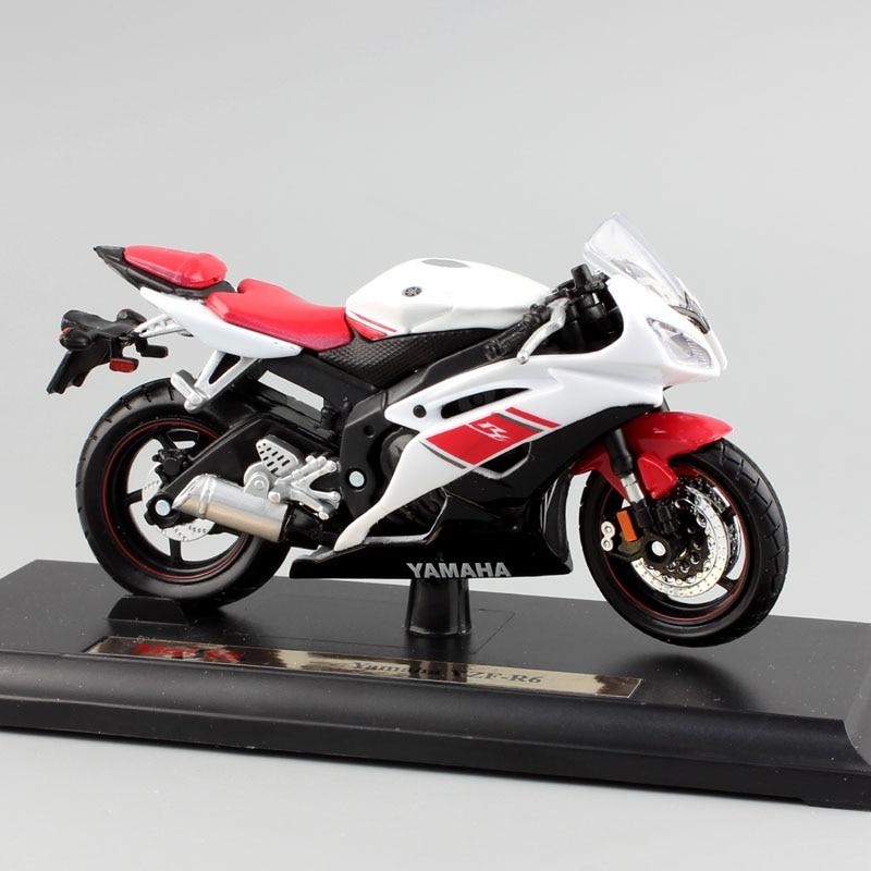 Brand 1/18 Scale Children YAMAHA YZF-R6 Motorcycle Super Sport Race Metal Diecast Bike Car Model Engine Toy Moto Car New In Box