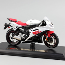 Brand 1/18 scale children YAMAHA YZF-R6 motorcycle super sport race metal Diecast bike car model engine Toy moto new in box