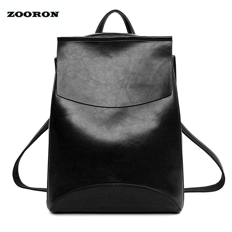 2017 New Design Pu Women Leather Backpacks School Bags Students Backpack Ladies Women's Travel Bags Leather Package Female Brand