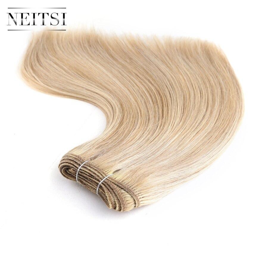 Neitsi Straight Brazilian Remy Human Hair Extensions 12 30 cm 110g pc P18 613 P27 613