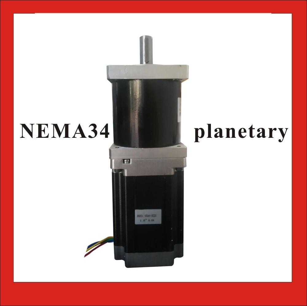 High Precision NEMA 34 Planetary Stepper Motor 126mm Motor Length NEMA34 Geared Stepper Ratio 15 20 25 50 100 :1 5 1 precision version nema34 planetary stepper motor 98mm motor length nema 34 gear stepper