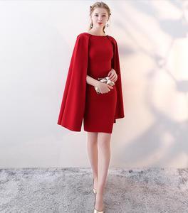 Вечерние платья винно-красного цвета, 2019, Специальное новогоднее платье для выпускного вечера, платья на молнии сзади, официальное вечернее...